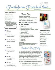 Preschool Newsletter 02.2017