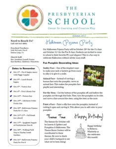 Preschool Newsletter 10.2017